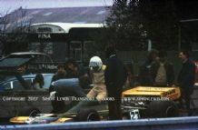 Token F1. Tom Pryce. Photo. Goodwood during testing 1974